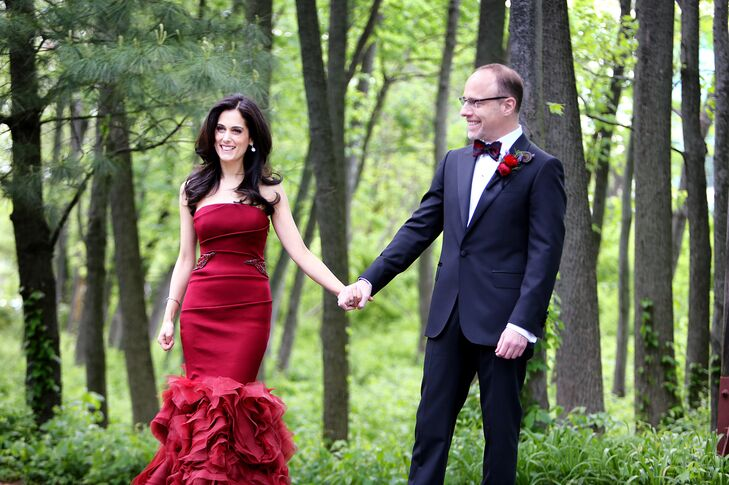 Married Couple With Natural Backdrop
