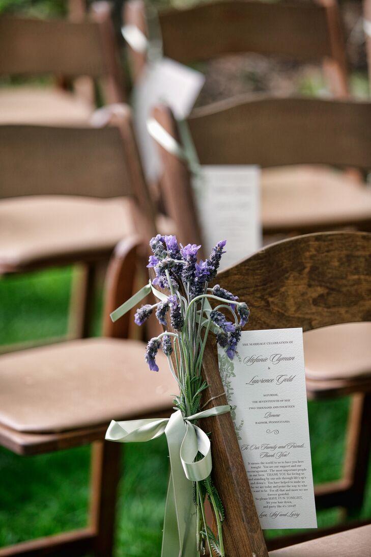 Lavender Bunch Ceremony Aisle Decoration