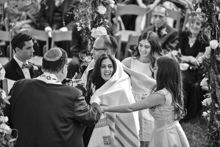 Bride Wrapped in Traditional Tallit