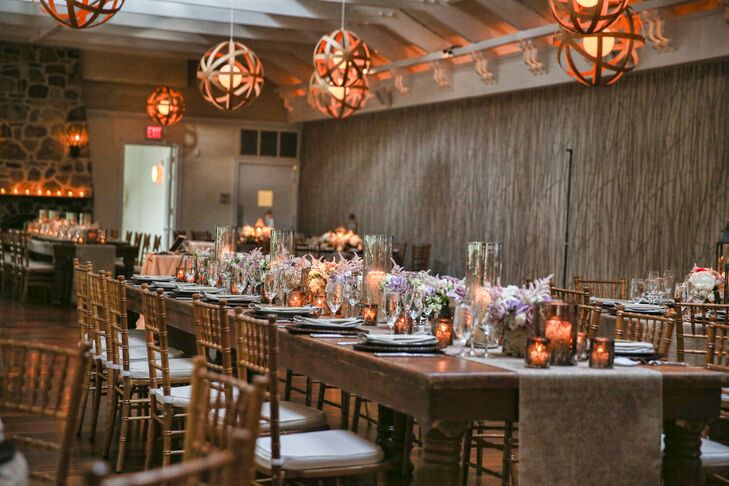 Wood Accented Reception Dining Tables