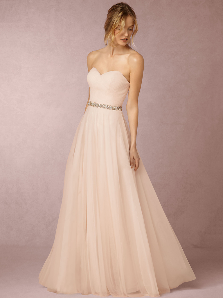 72368ef89ce Light pink Calla bridesmaids gown from BHLDN