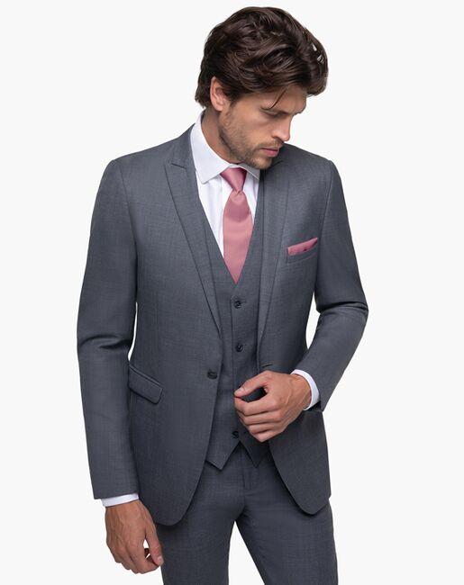 Generation Tux Iron Gray Peak Lapel Suit Gray Tuxedo