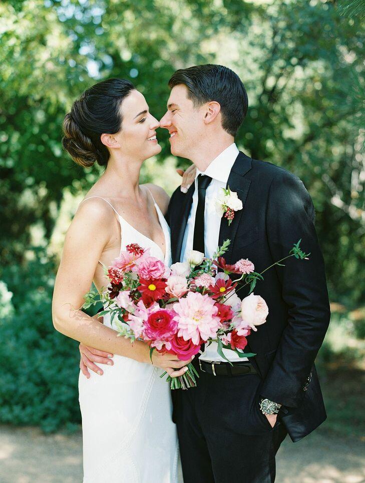Bride and Groom at Skylight in Denver, Colorado