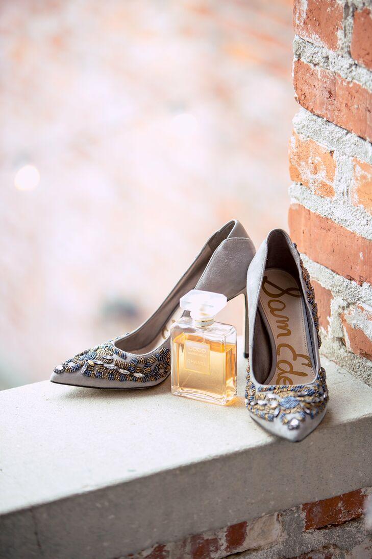 ac716f0f8 Beaded Sam Edelman Wedding Shoes