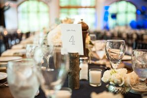 Wooden Tree Log Table Number