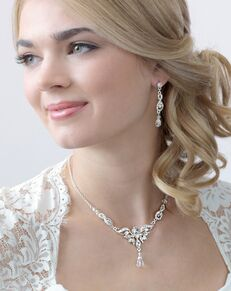 Dareth Colburn Ella Rhinestone & Crystal Drop Jewelry Set (JS-1658) Wedding Necklace photo