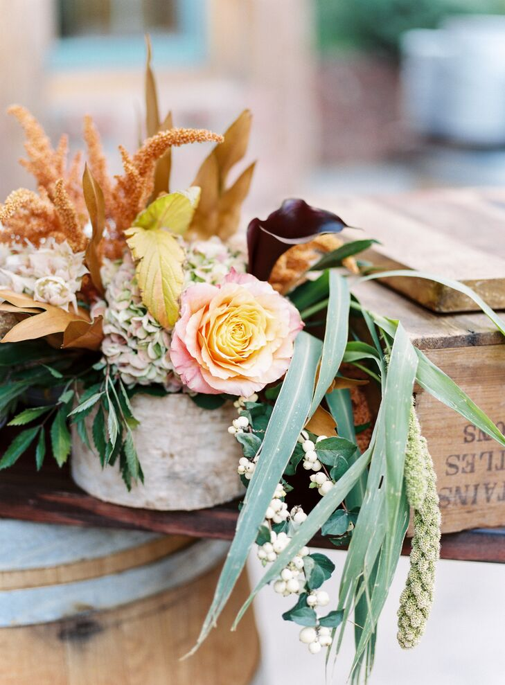 Fall Foliage and Floral Centerpieces