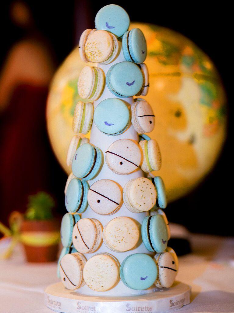 Macaron wedding dessert display