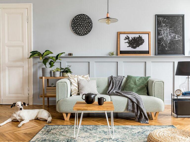 Modern living room registry items in home