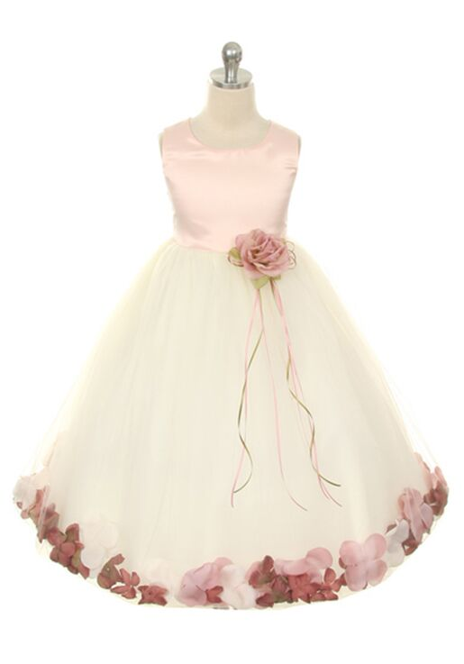 Kid's Dream 160B White Flower Girl Dress
