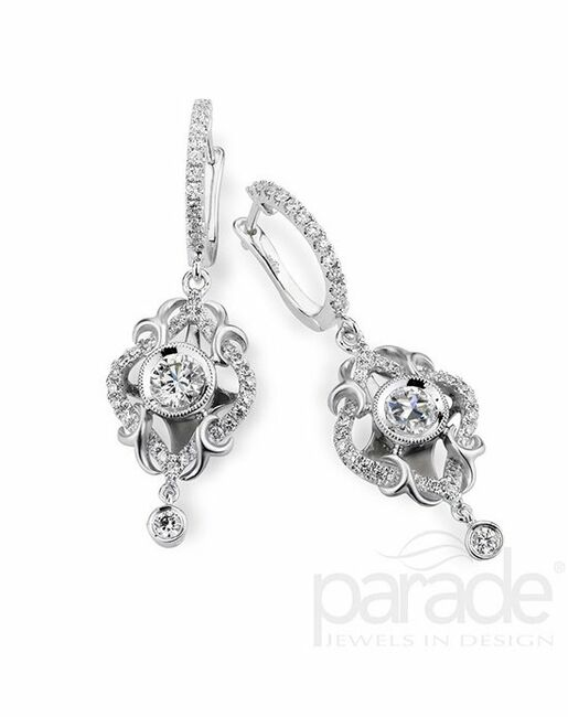 Parade Designs HE2771 from the Lyria Leaves Collection Wedding Earrings photo