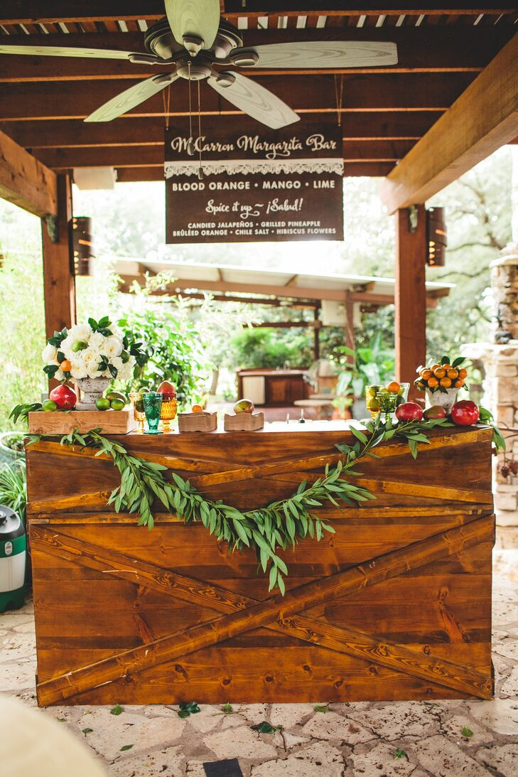 Everyone loved the margarita bar, where bartenders served up lime blood orange, pomegranate and mango margaritas. The bar was decorated with fresh fruits, flowers and whimsical signage.