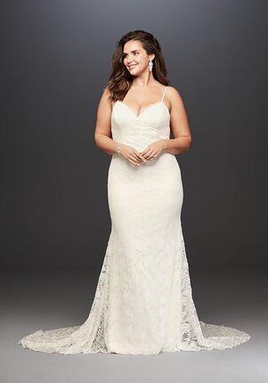 David's Bridal Galina Style 9WG3827 Sheath Wedding Dress