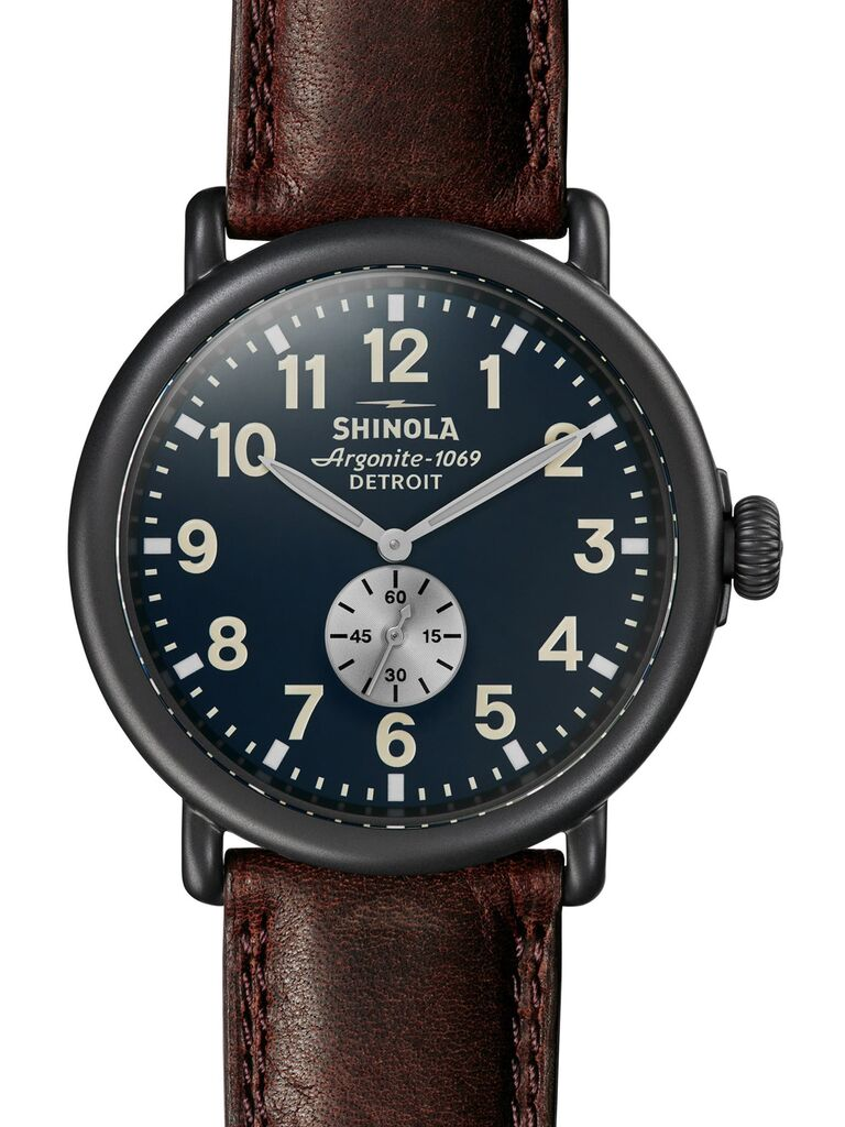 Leather watch first anniversary gift