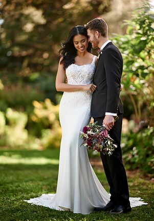 Essense of Australia D3144 Sheath Wedding Dress