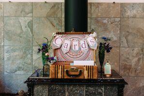 Antique Suitcase Wedding Card Display