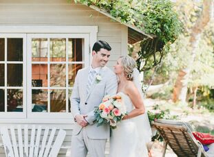 Megan Young (28 and an investment professional) and Brian Featherstun (28 and a lawyer) had their elegant, rustic wedding in the