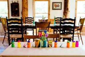 Crafty and Colorful Kids Table