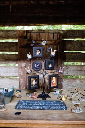 Family Tree Photo Display Reception Decor