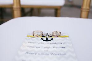Nautical Flag Wedding Rings