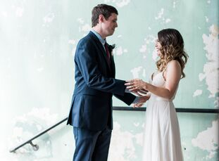 Kimmie Hawk and Zac Valentine's wedding at The Standard in Knoxville, Tennessee, was a classic, bohemian affair with plenty of understated natural tou