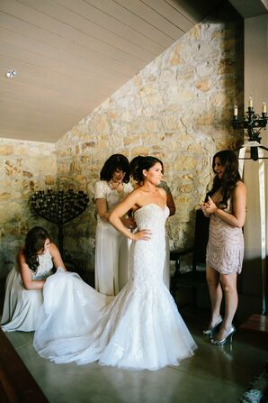 Strapless Mori Lee Gown