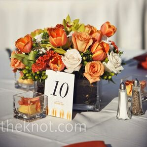 Low Orange Centerpieces