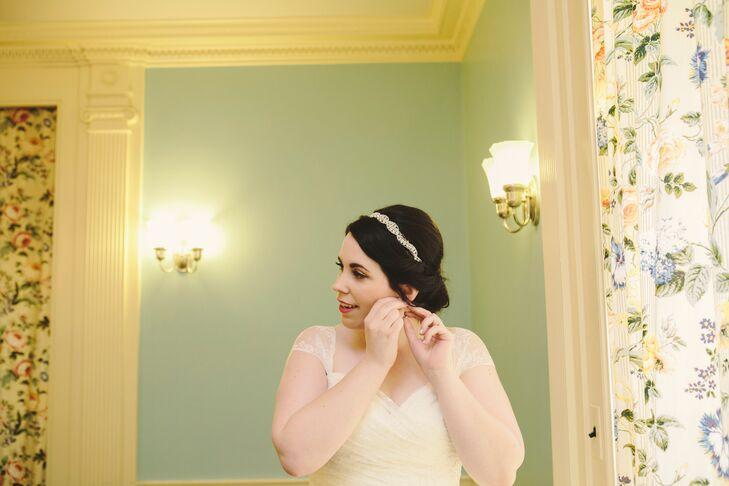 Bridal Updo with Untamed Petals Headband