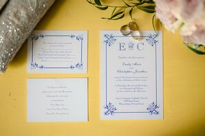 Classic Navy and Ivory Invitation Suite