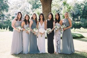 Gray Bridesmaid Gowns