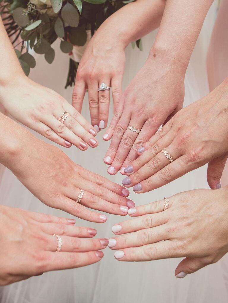 Shades Of Pink Bridesmaid Nail Colors