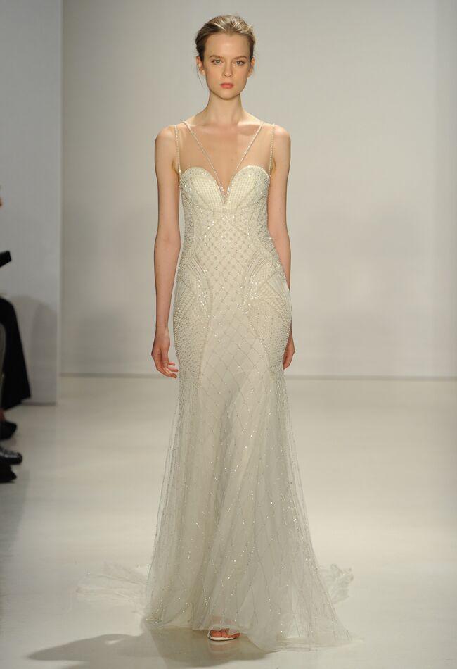 Kenneth Pool Wedding Dresses Fall 2015 | Maria Valentino/MCV Photo | blog.theknot.com