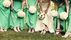 Bridal Party Mismatched Shoes