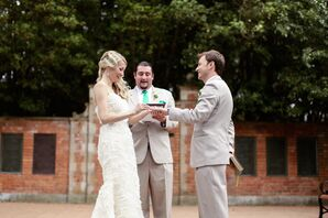 Bride and Groom Exchanging Vows at Golden Gate Park