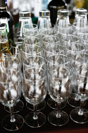 Champagne Glasses at Reception