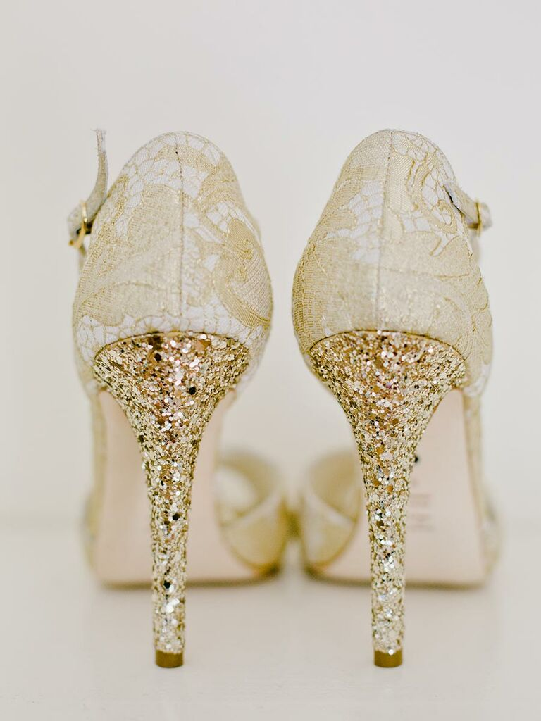 Sparkly wedding shoes wedding shoes sparkly heels gold junglespirit Choice Image