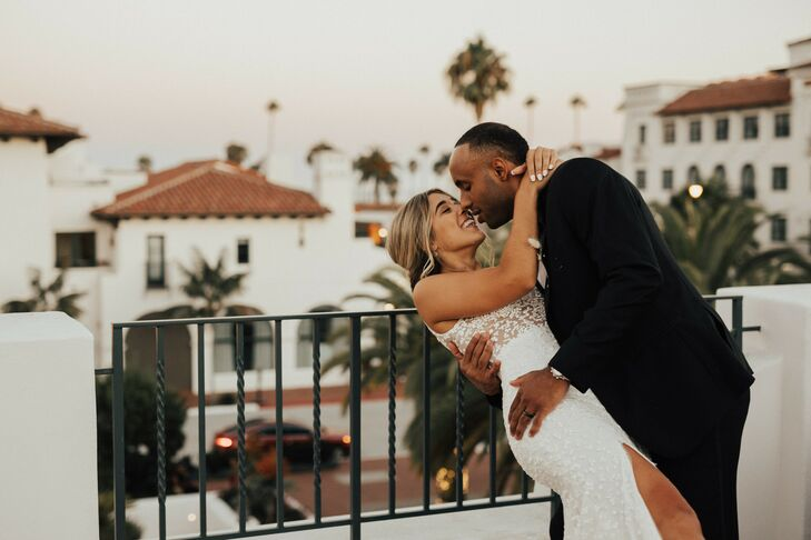 Although Annie and Evan's rooftop wedding at Hotel Californian in Santa Barbara, California, was their 'Plan C,' they didn't let the ongoing pandemic
