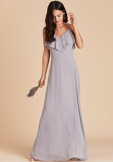 Birdy Grey Jane Convertible Dress in Silver V-Neck Bridesmaid Dress