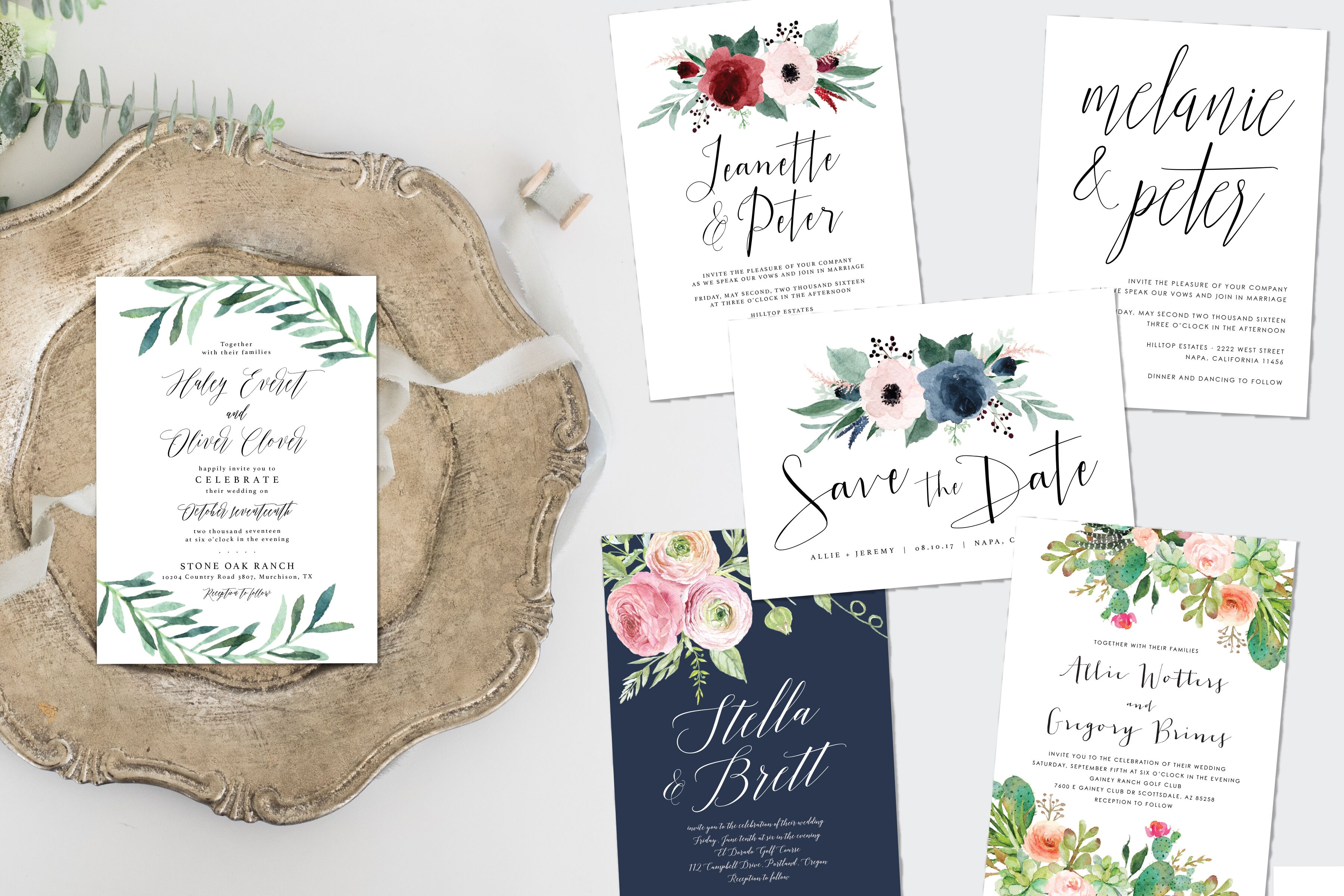 Invitations + Paper in Los Angeles, CA - The Knot