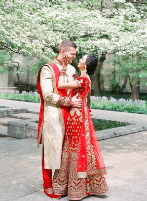 Bride and Groom in Traditional Hindu Fashion