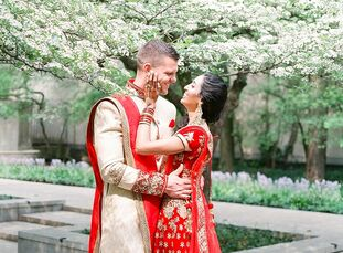 Neela Rao and Nathan Wruble planned a two-day wedding that celebrated their Western and Indian cultures. On the first day was a traditional Hindu cere
