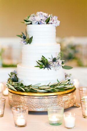 Three-Tier Combed Buttercream Wedding Cake
