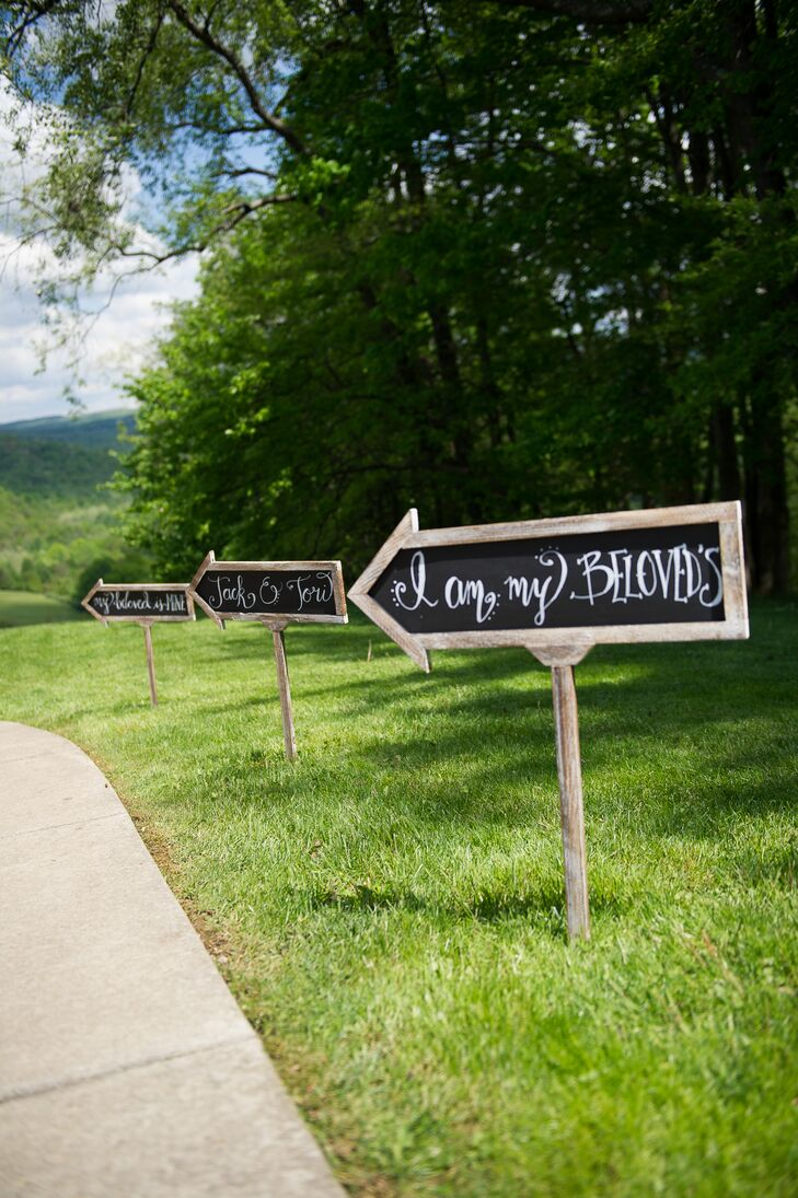 Hand-Lettered Arrow Chalkboard Signs