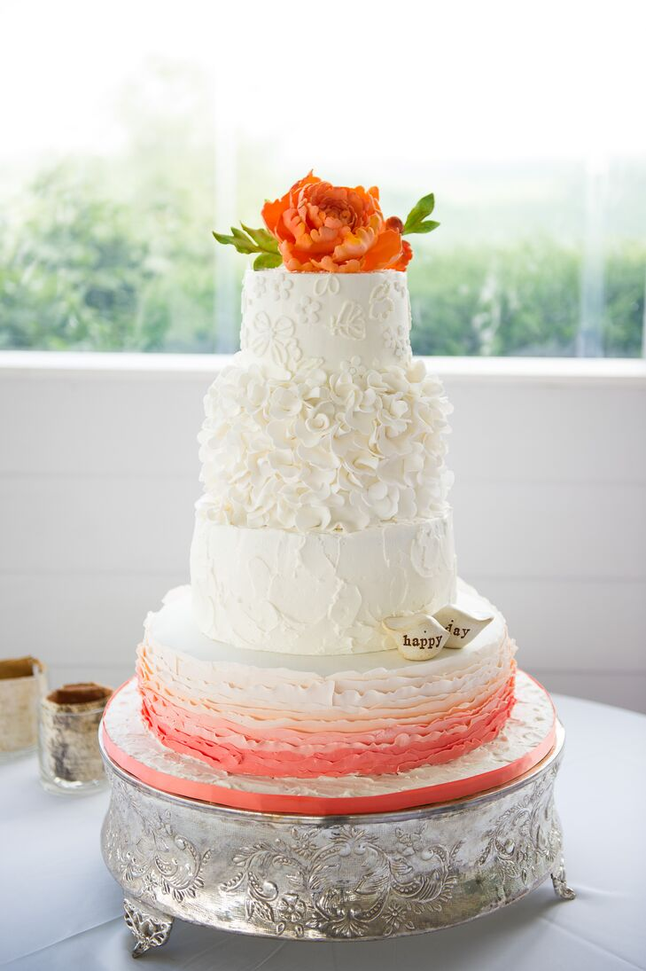Floral, Ombre Wedding Cake
