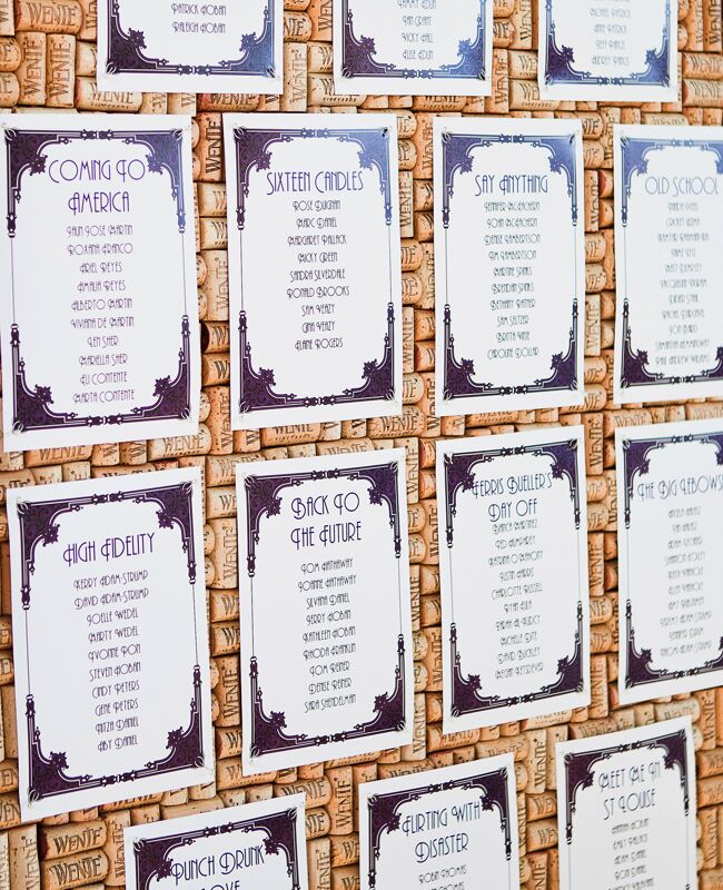 Wedding decor with wine corks: Nicole Paulson Photography / TheKnot.com