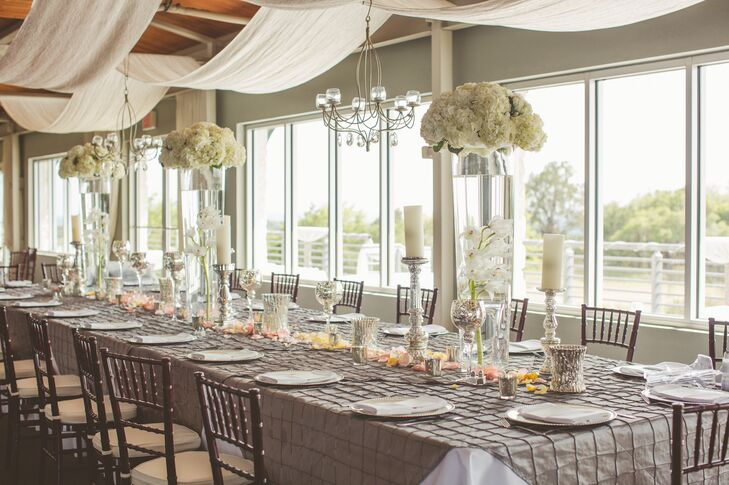 Textured Taupe Dining Linens with Spring Florals