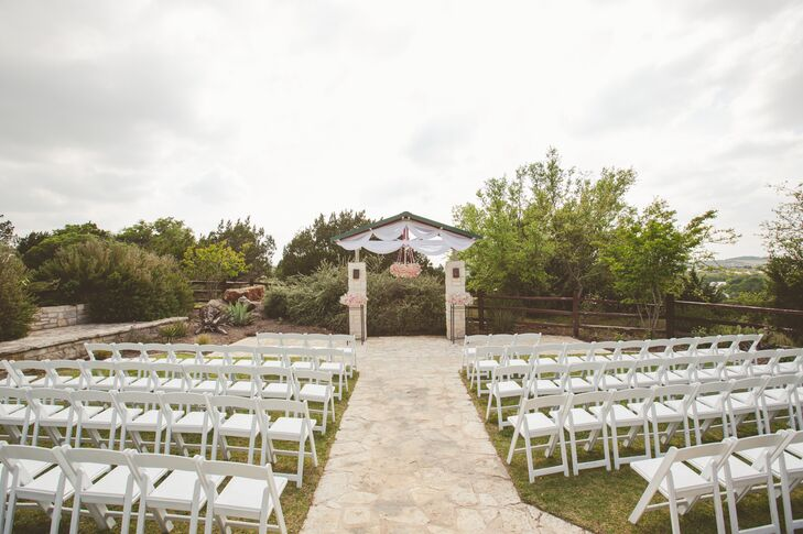 """The couple chose The Terrace Club in Dripping Springs, Texas for a number of reasons. """"The staff genuinely want your wedding to be perfect for you,"""" says Ashley. """"They are so accommodating and made it easy to plan."""""""