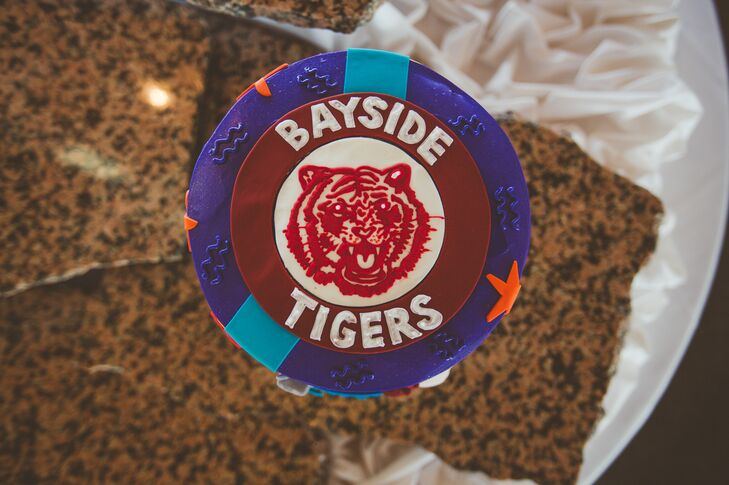 Bayside Tigers Grooms Cake Topper