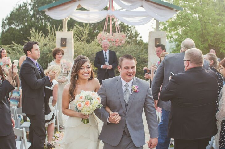 Recessional from The Terrace Club Outdoor Ceremony