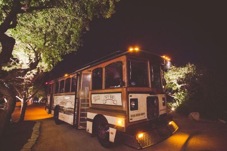 Reception Trolley Bus Transporation